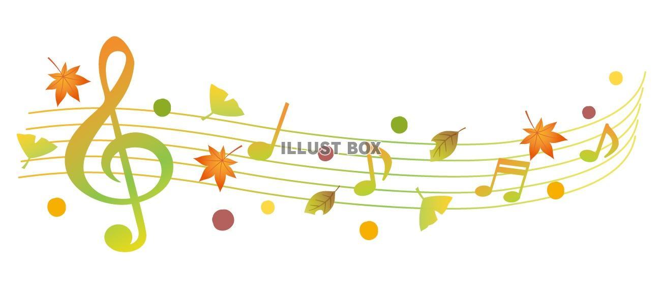 無料イラスト 秋の音楽ライン