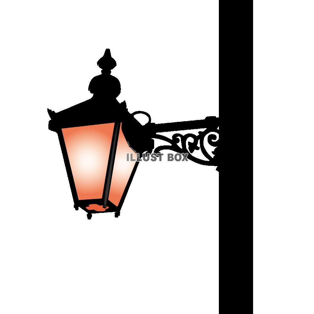無料イラスト 街灯