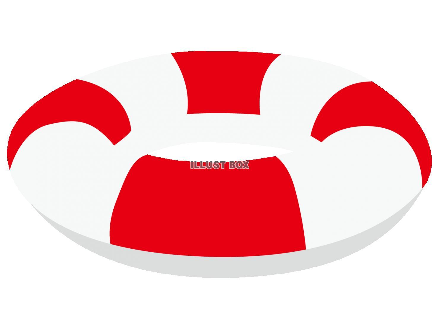 無料イラスト 浮き輪