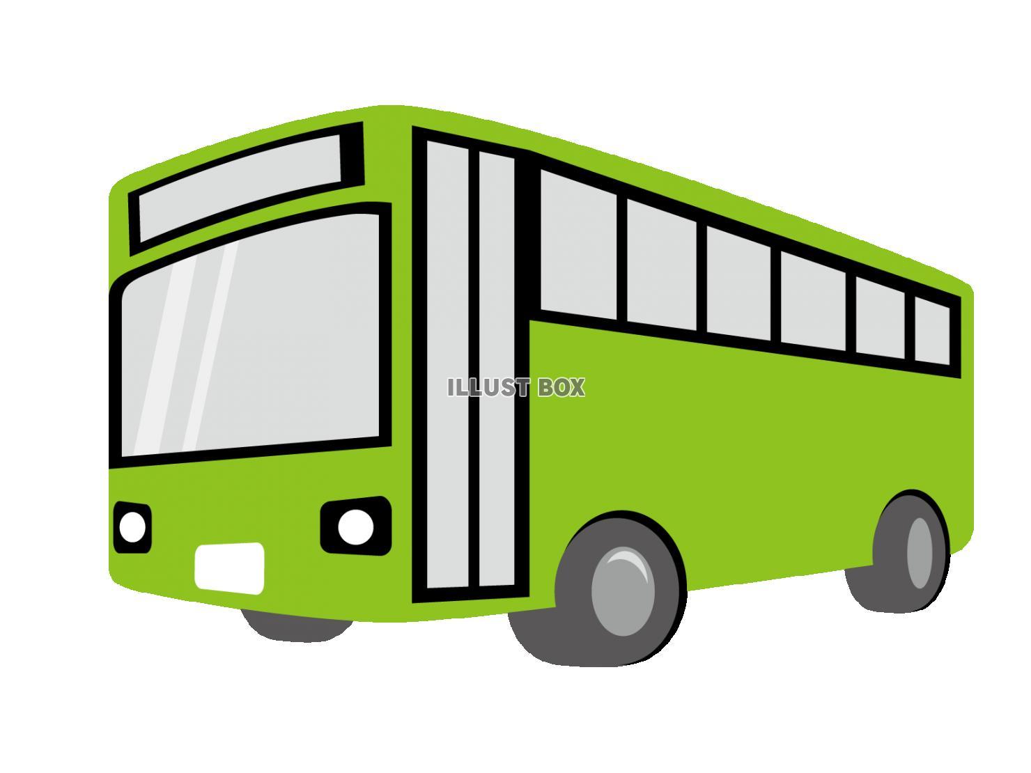 無料イラスト バス