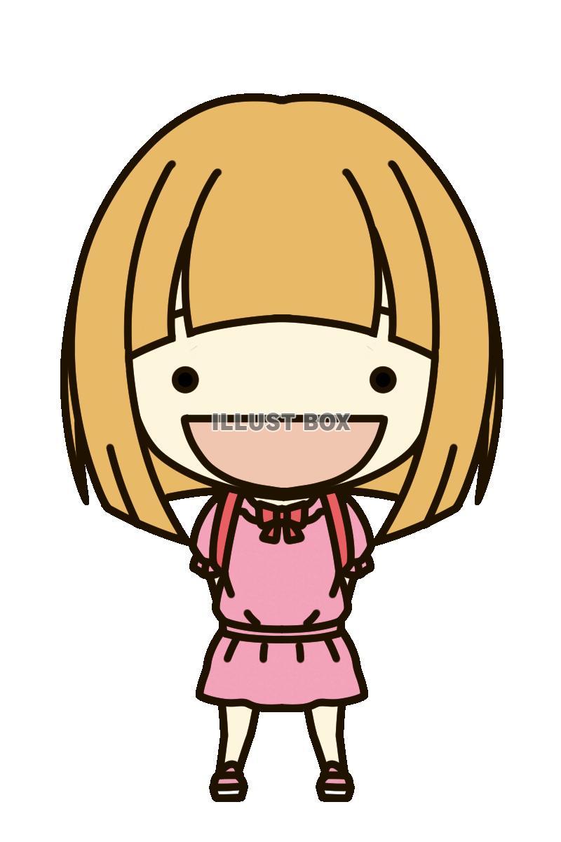 無料イラスト デフォルメ①小学生女子24