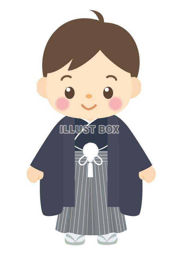 無料イラスト 着物の男の子