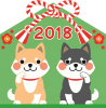 2018年戌年の年賀状素材2