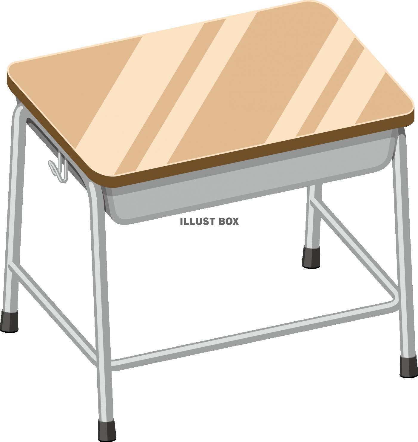 無料イラスト 教室 机