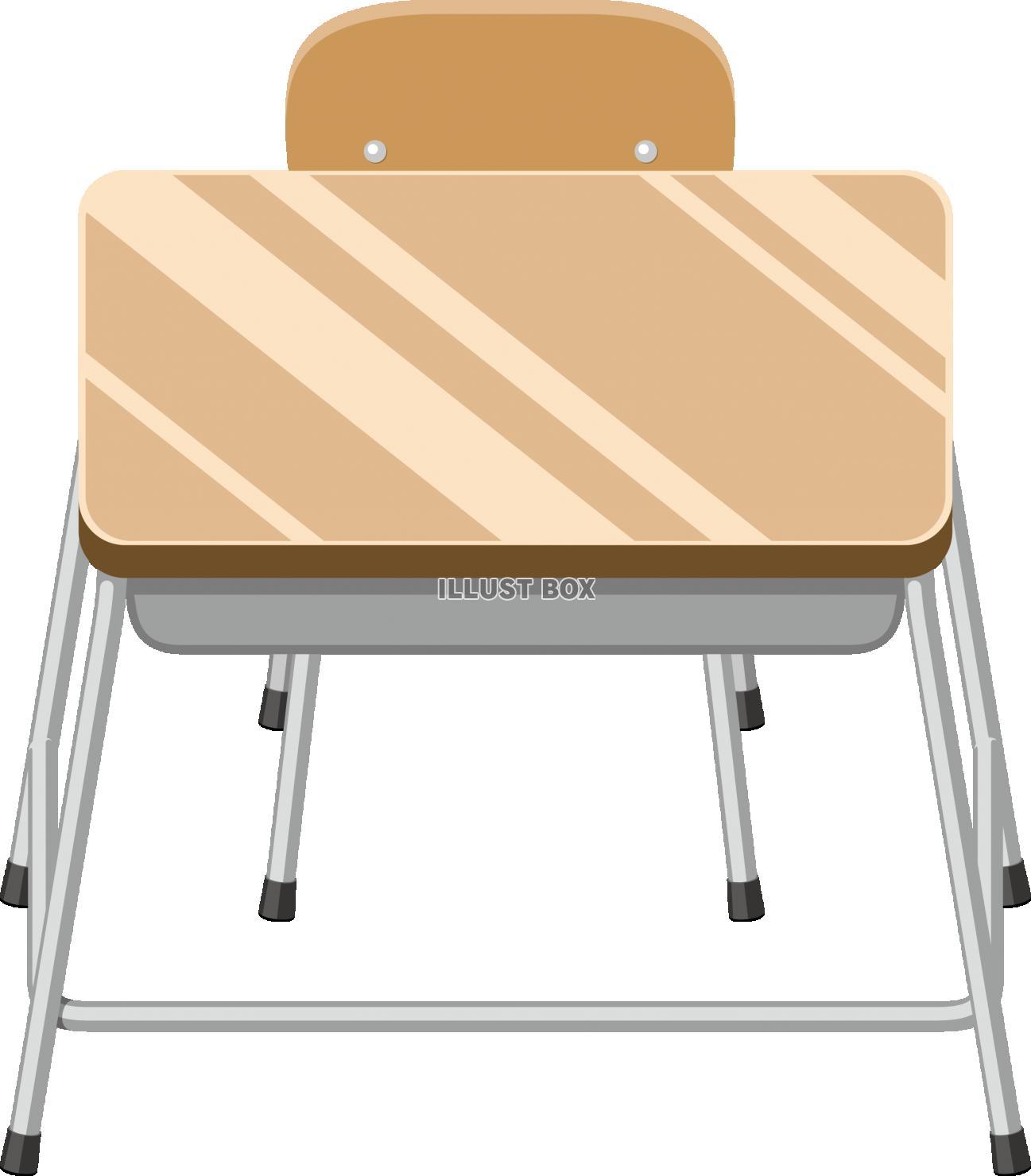 無料イラスト 教室 机とイス