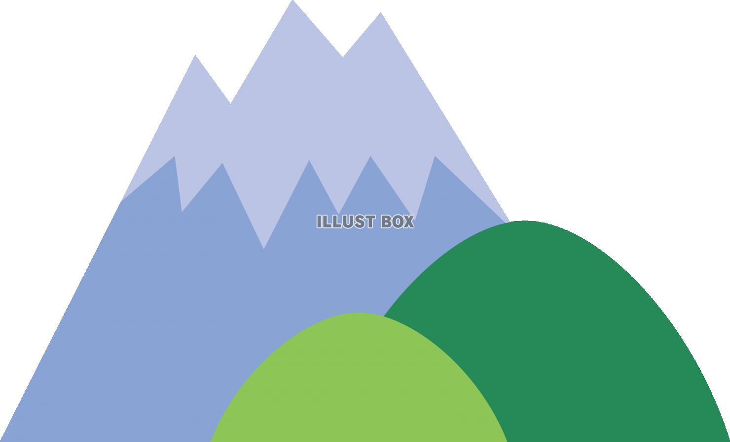 無料イラスト シンプルな 山