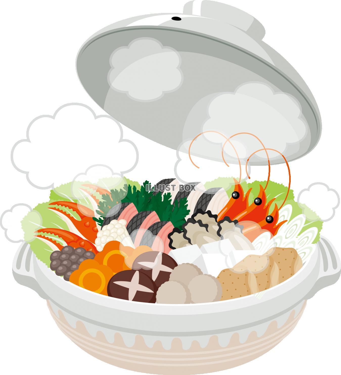 無料イラスト 鍋 料理