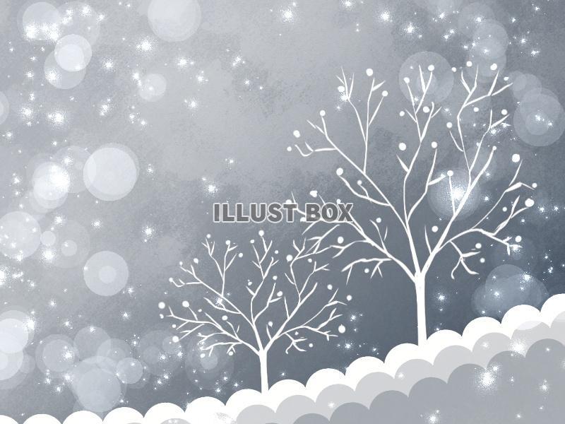 無料イラスト 冬景色1