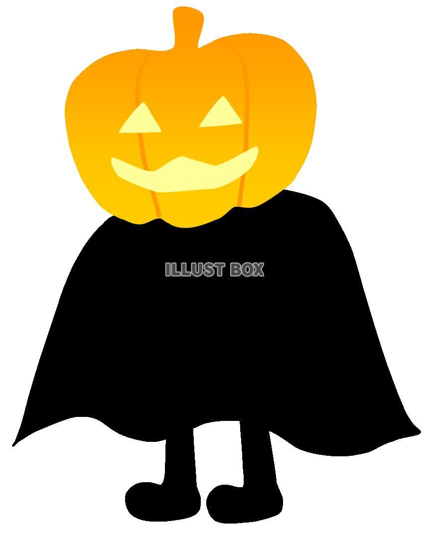 無料イラスト かぼちゃおばけ2