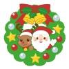 クリスマスリース サンタとトナカイ