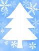 ツリーのクリスマスカード 透過png