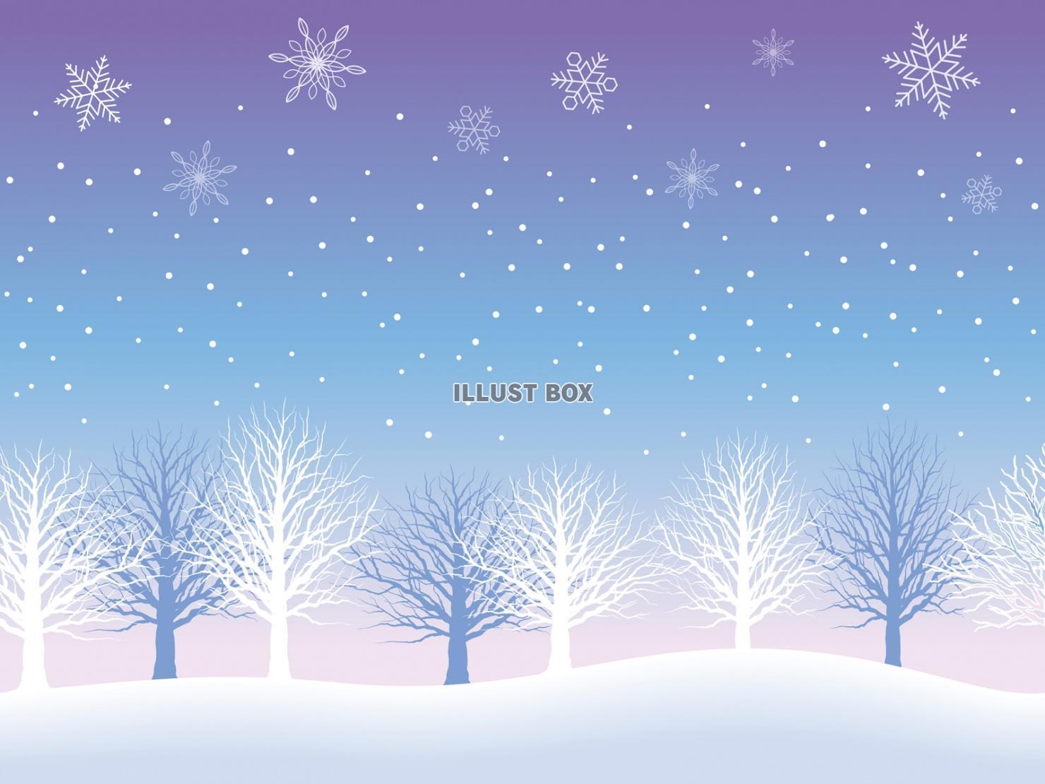 無料イラスト シームレスな雪の背景