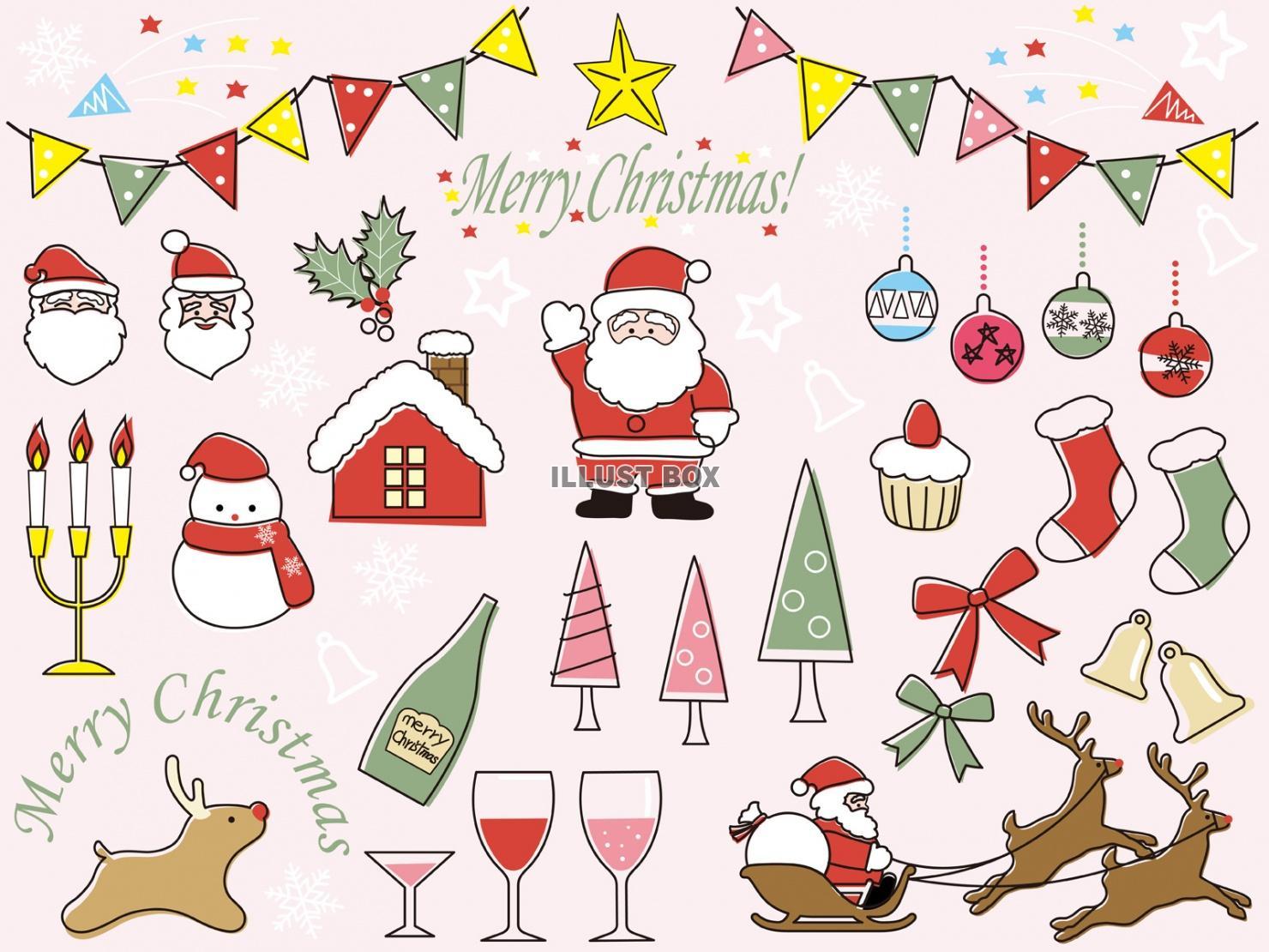 クリスマス イラスト 手書き かわいい , paintschainer