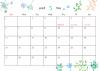 2018年カレンダー 5月