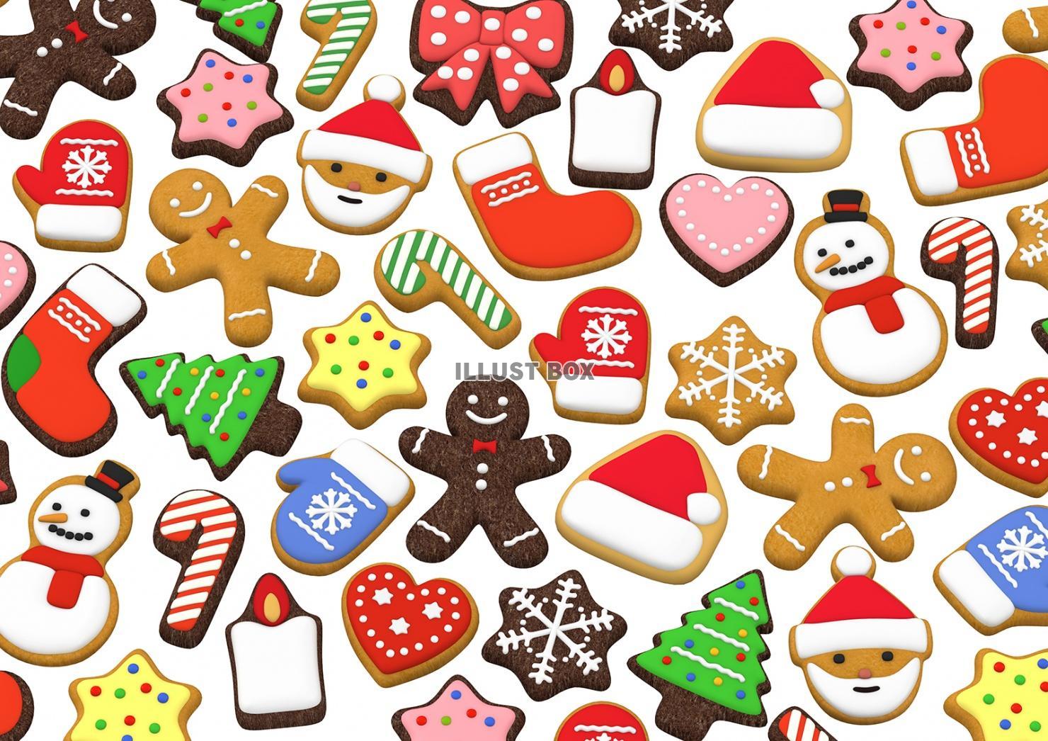 無料イラスト クリスマスクッキー 3dイラスト03