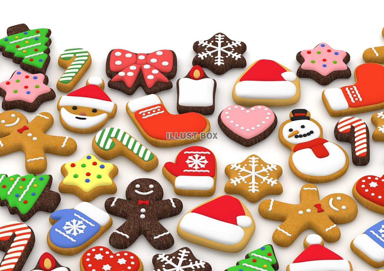 無料イラスト クリスマスクッキー 3dイラスト04