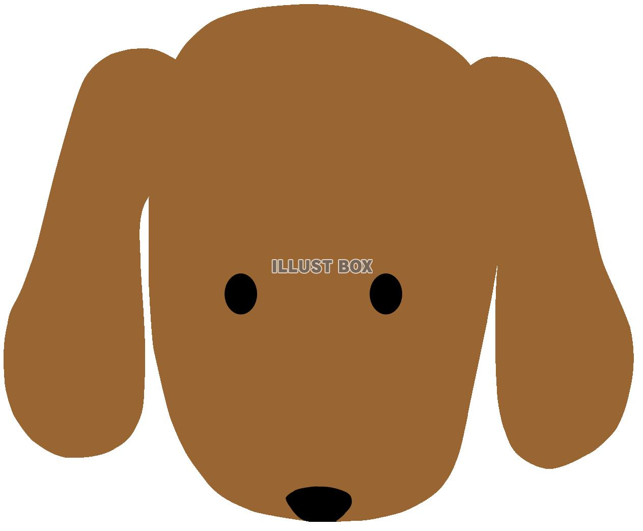 無料イラスト 犬の顔