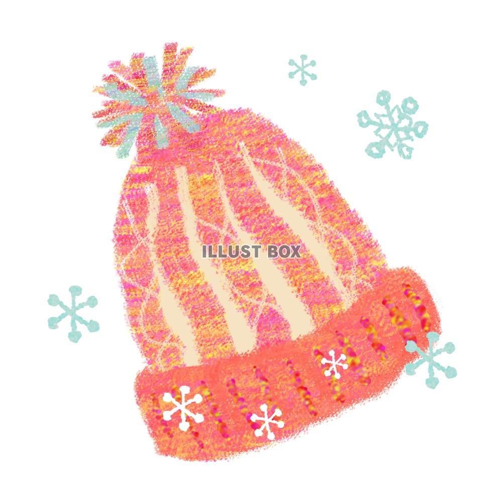無料イラスト ピンクのニット帽