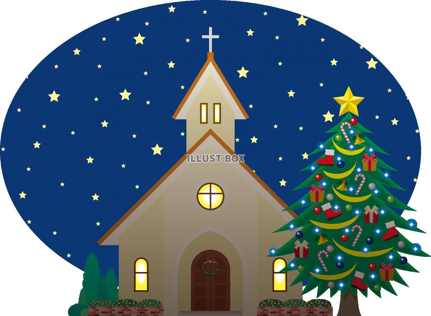 無料イラスト クリスマス 教会