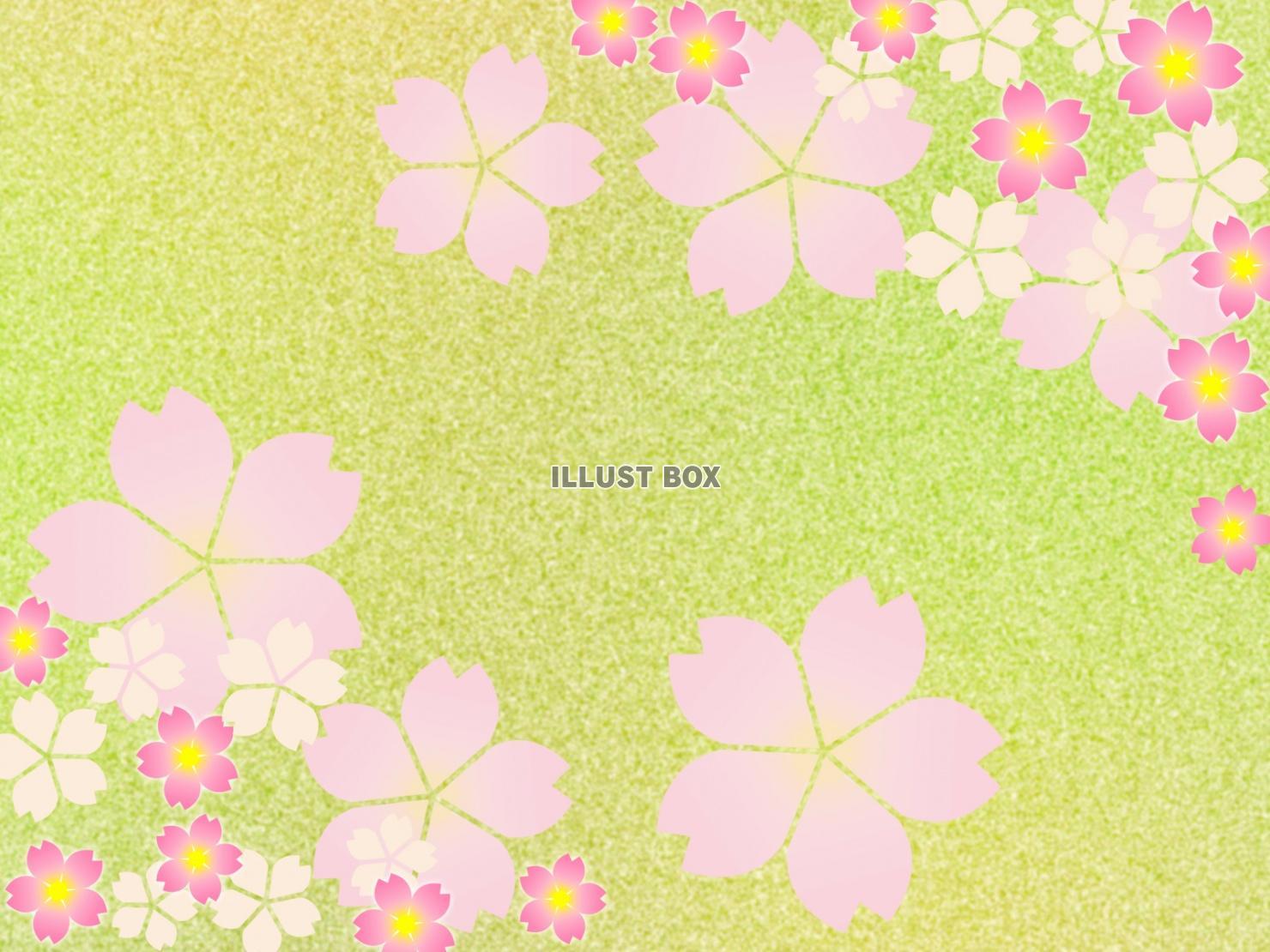 無料イラスト 桜の花の壁紙イラスト和風柄の背景素材