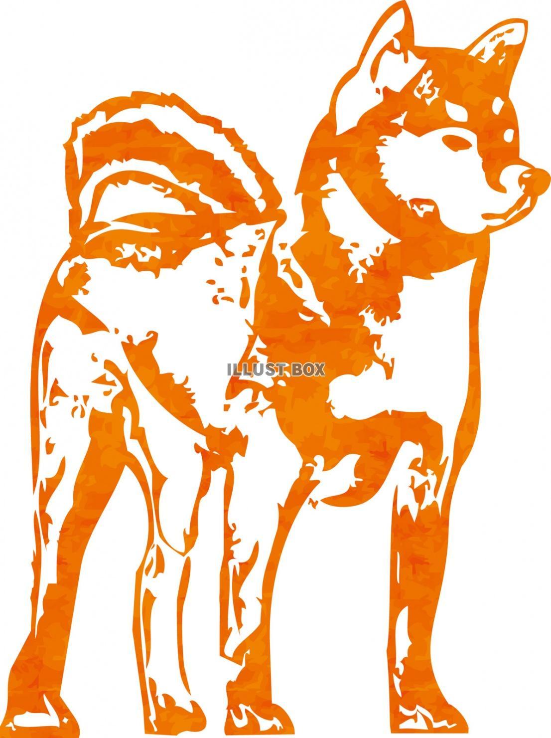 無料イラスト 年賀状素材犬,正月,干支,戌年,お年賀,冬,お正月,戌,和風