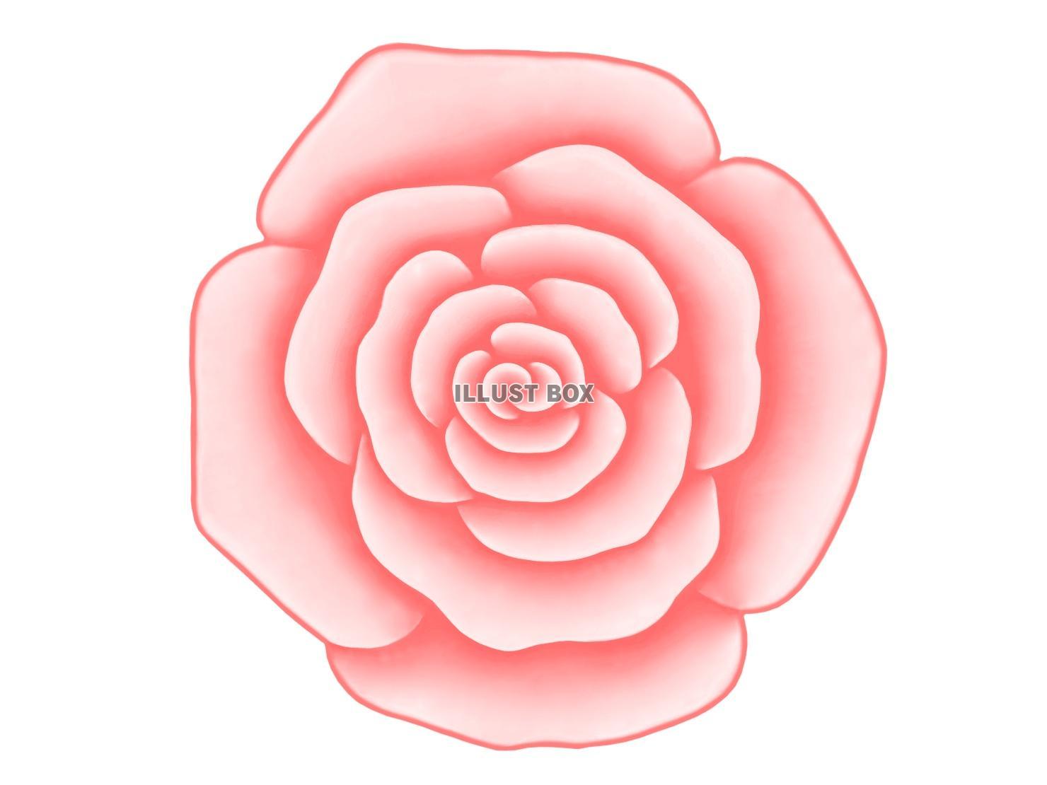 無料イラスト バラの花のワンポイントイラスト背景素材