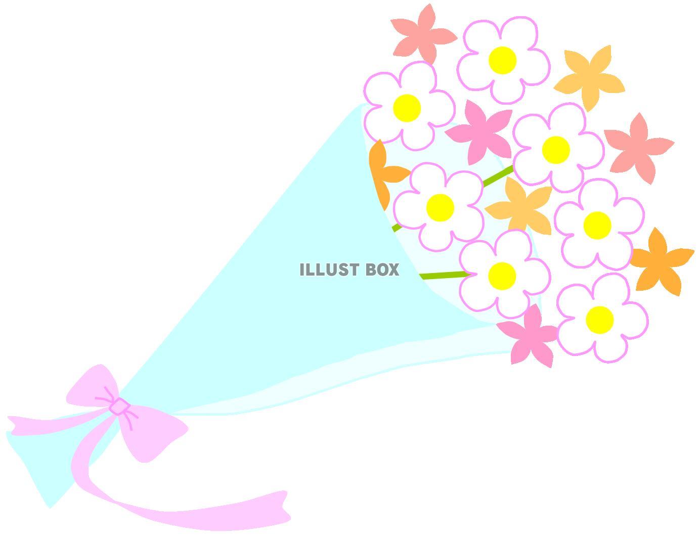 無料イラスト かわいい花束