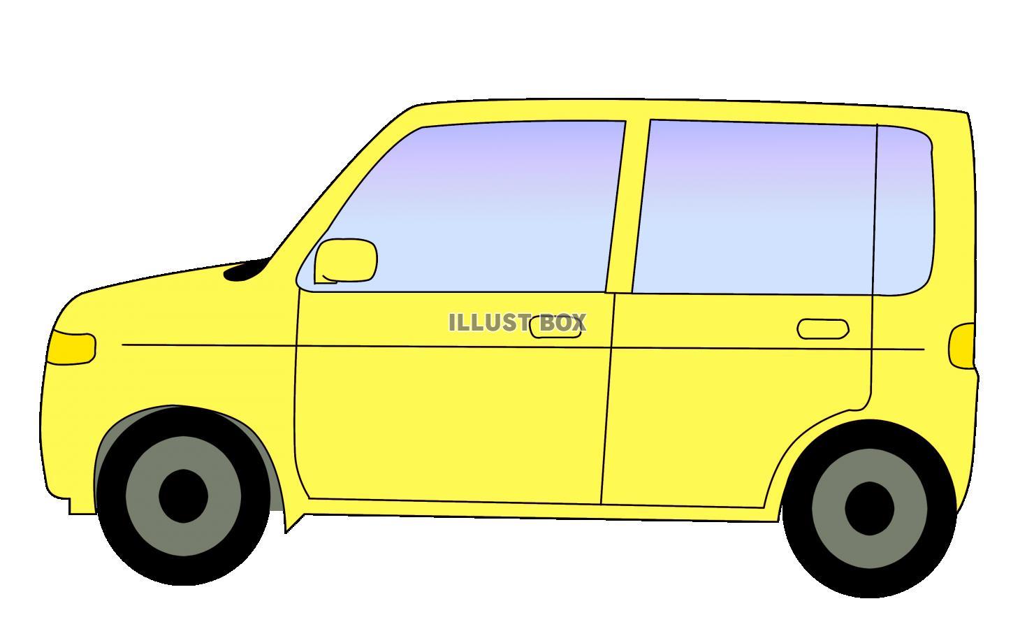 無料イラスト 黄色い車