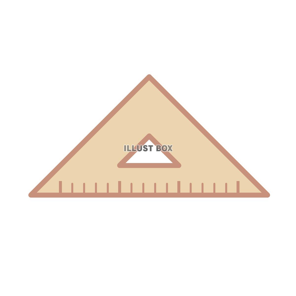 無料イラスト 三角定規①
