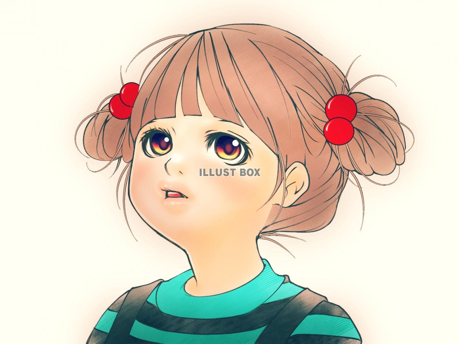 無料イラスト 幼い女の子