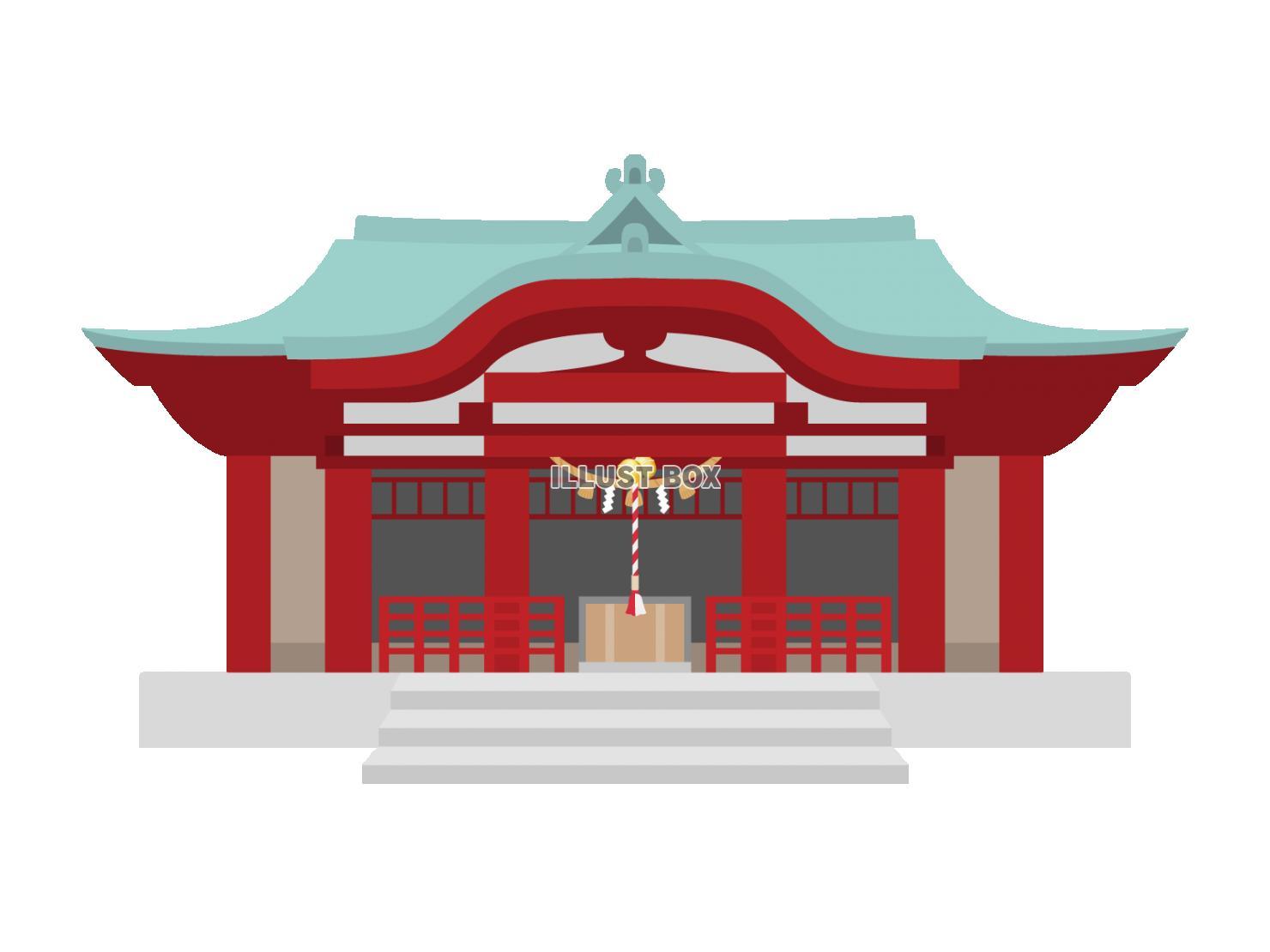 無料イラスト 神社