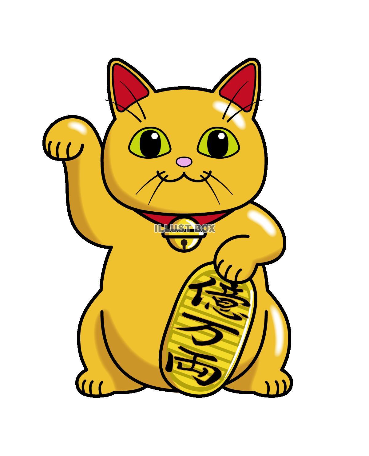 招き猫(金色)