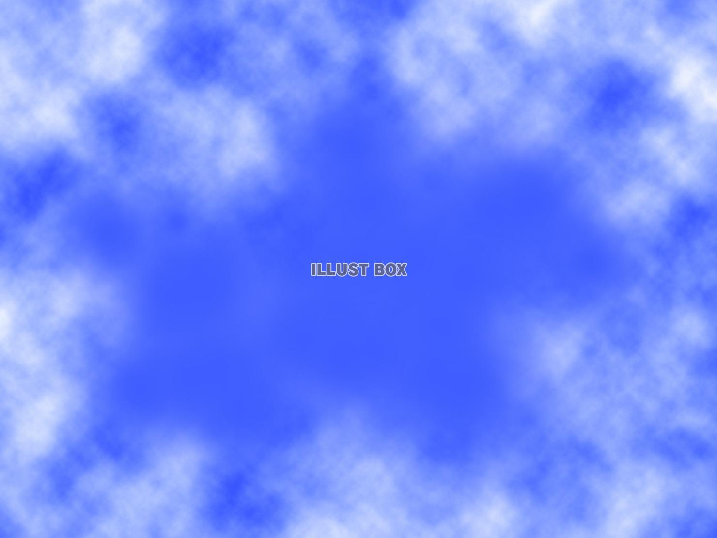 無料イラスト 空と雲の壁紙 青色の背景素材イラスト