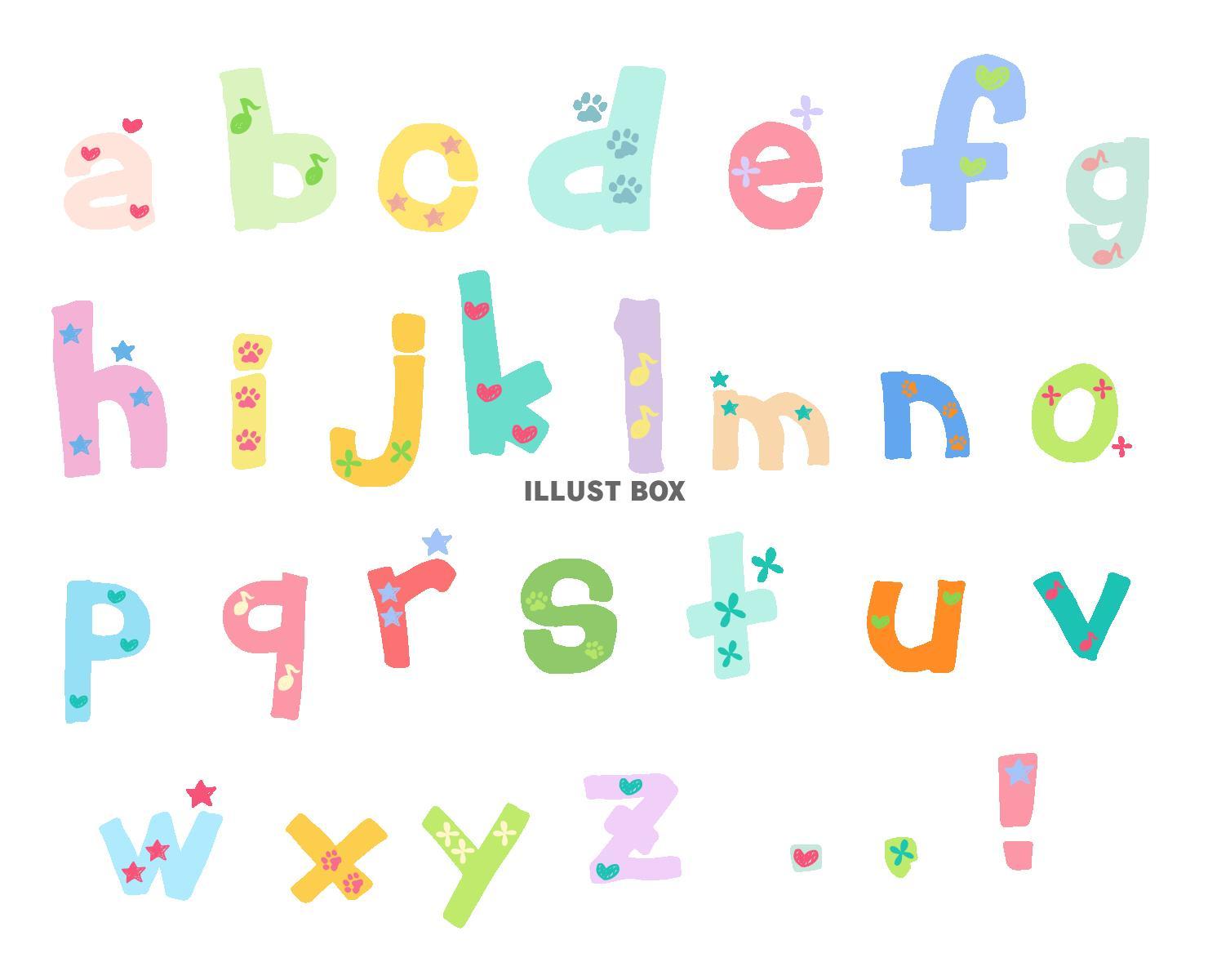 ゆる文字セット - アルファベット・小文字