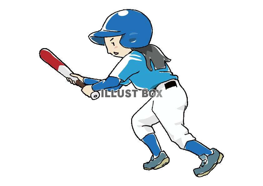 人物-女の子-野球1