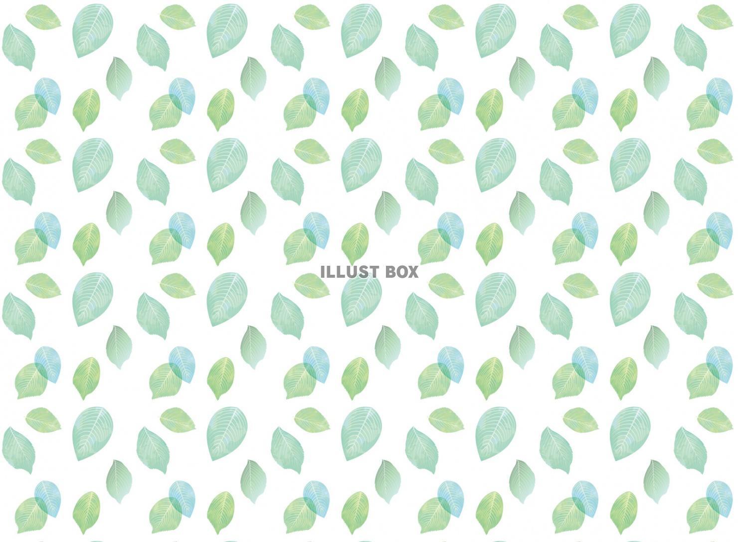 無料イラスト 葉 スウォッチ 葉っぱ 緑 背景 壁紙 植物 水彩 春 手書