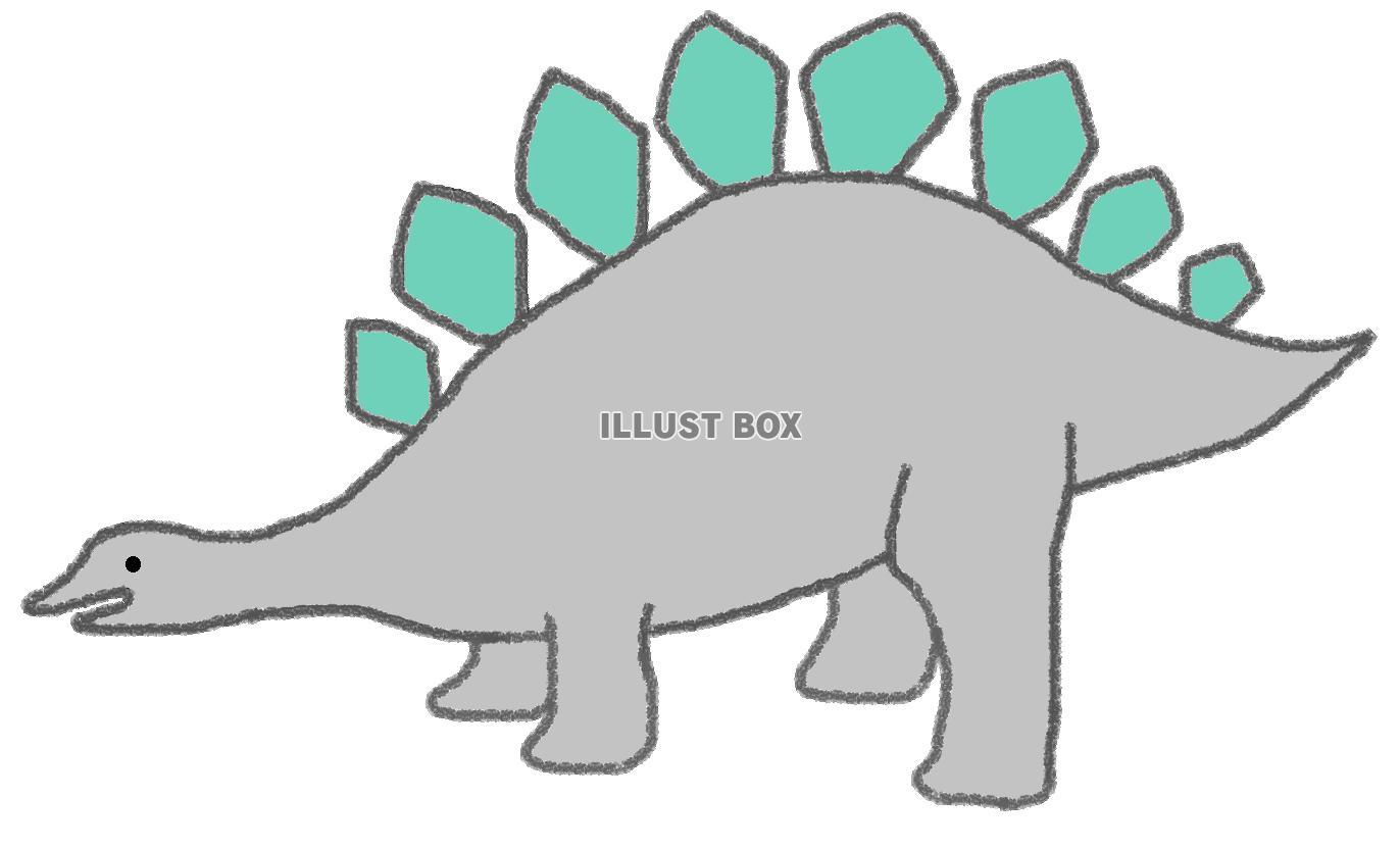 無料イラスト 草食恐竜(ステゴサウルス)
