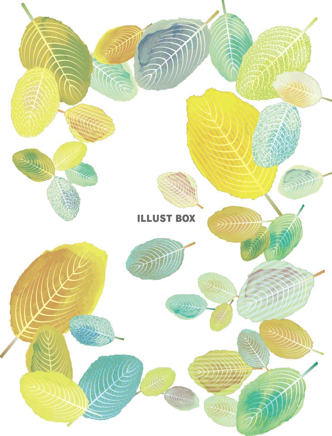 無料イラスト 背景,夏,春,イラスト,シンプル,シルエット,葉,かわいい,