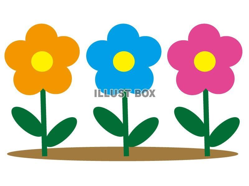 無料イラスト かわいい花のイラストセット