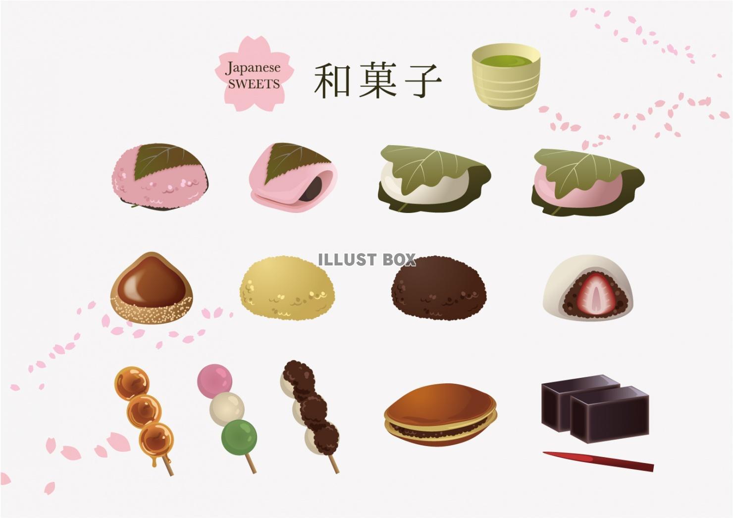 お菓子歯科素材com歯医者さん向け無料イラスト