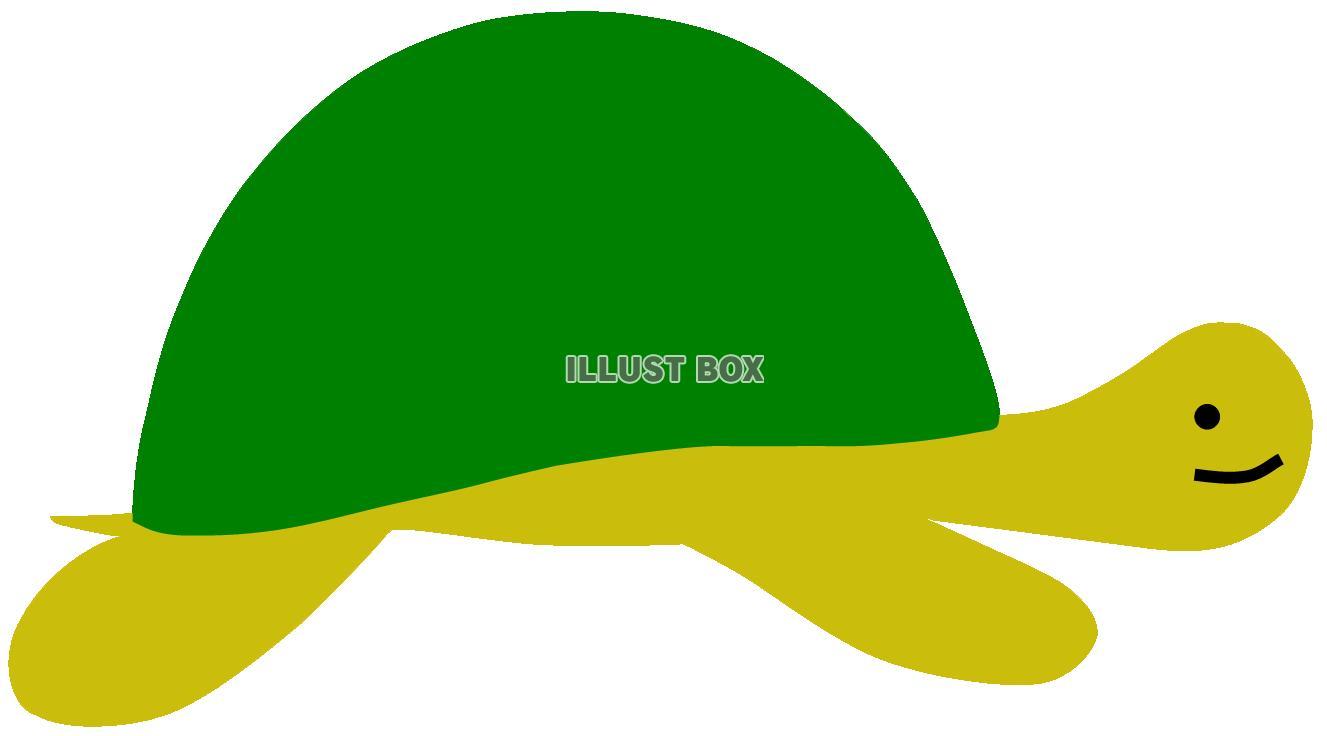無料イラスト 亀1カメかめ長寿縁起物