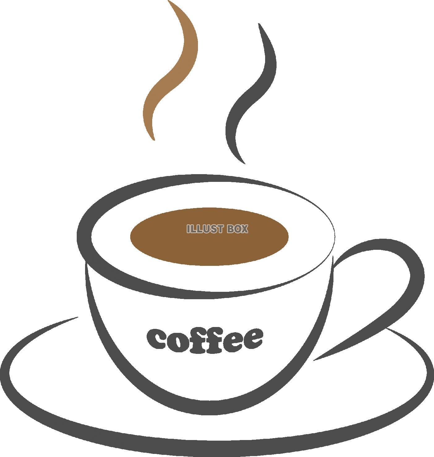 無料イラスト コーヒーのイラスト