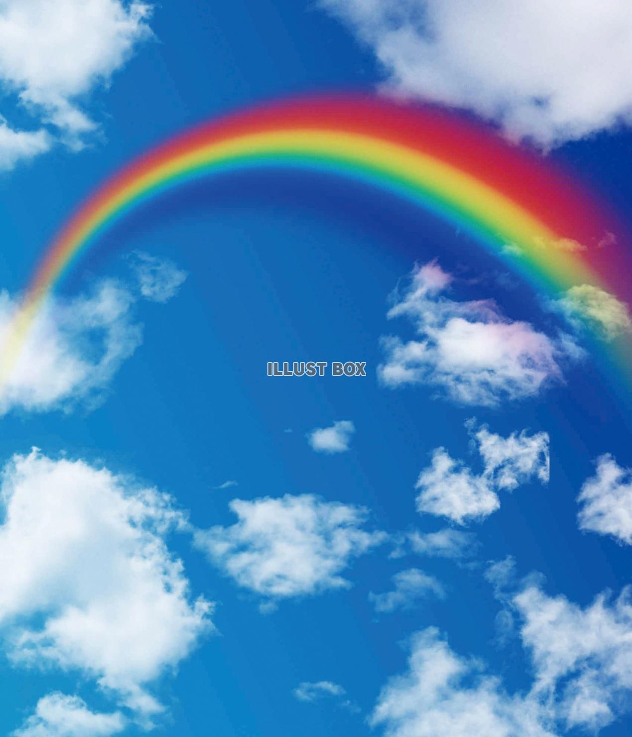 無料イラスト 青空と虹
