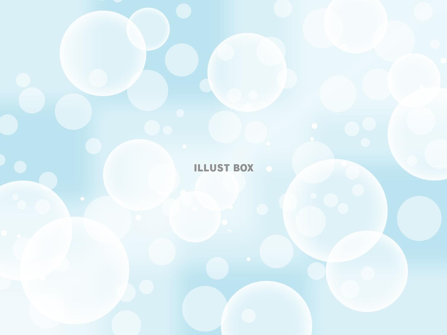 無料イラスト 幻想的な水玉模様の壁紙 バブル柄背景素材イラスト