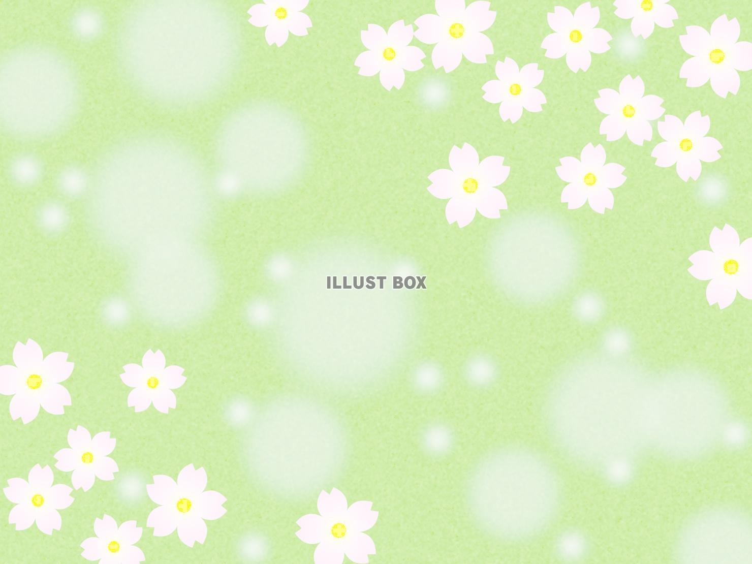 無料イラスト 桜の花模様の壁紙 パステルカラーの背景素材イラスト