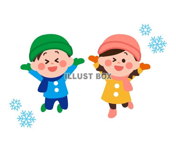 無料イラスト 冬の子どもイラスト
