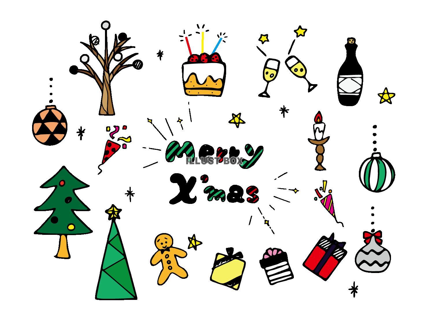 60点のクリスマスツリーのイラスト素材クリップアート素材マンガ素材