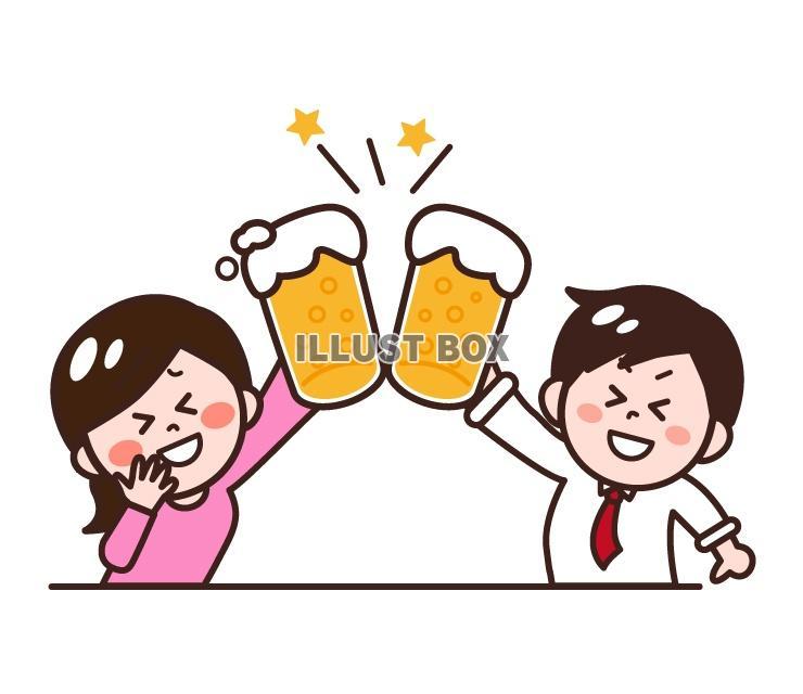 無料イラスト 飲み会忘年会新年会歓送迎会のイラスト