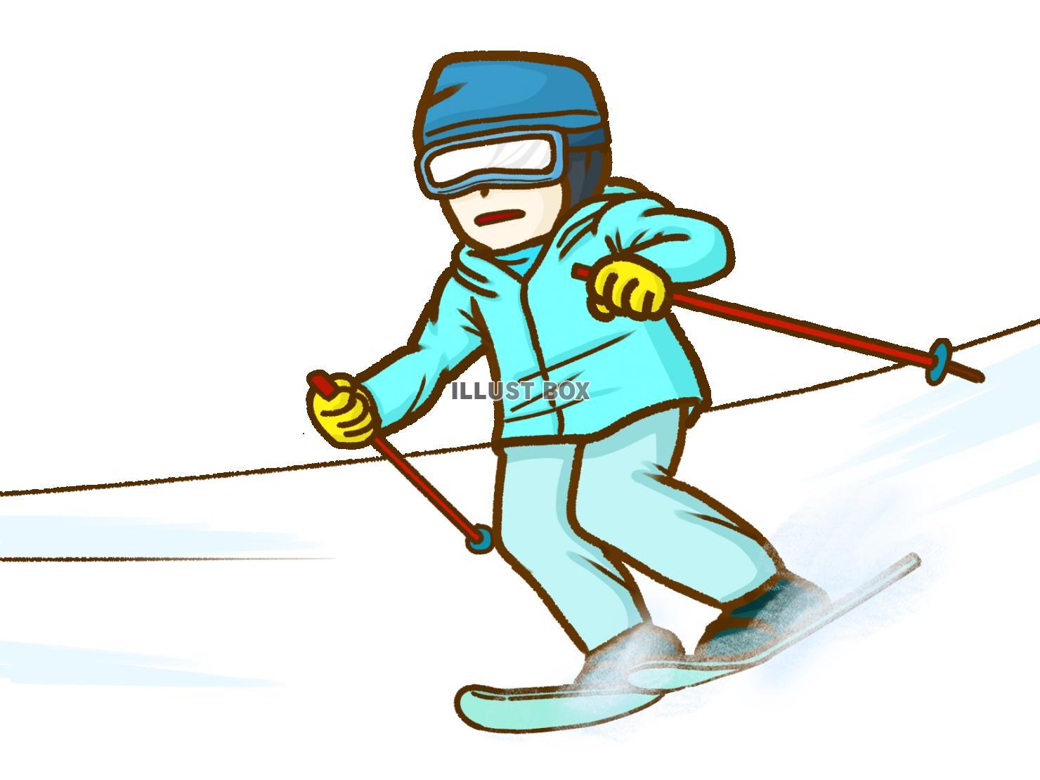 無料イラスト スキー