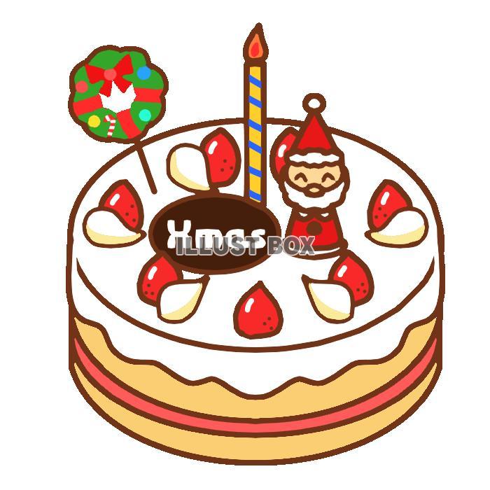 丸いクリスマスケーキ 透過png
